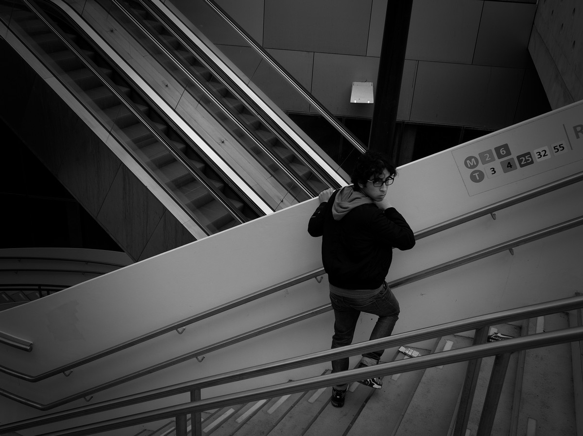 Straatfotografie in zwartwit