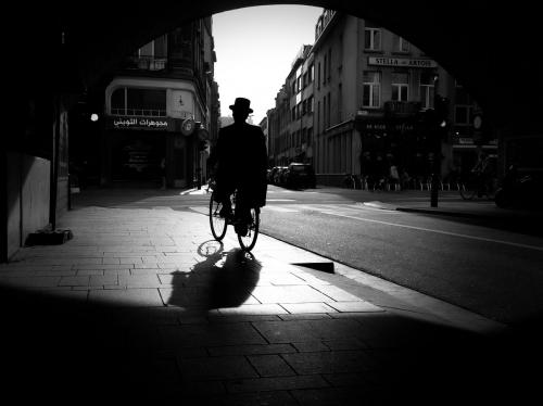 Fietser Straatfotografie Antwerpen
